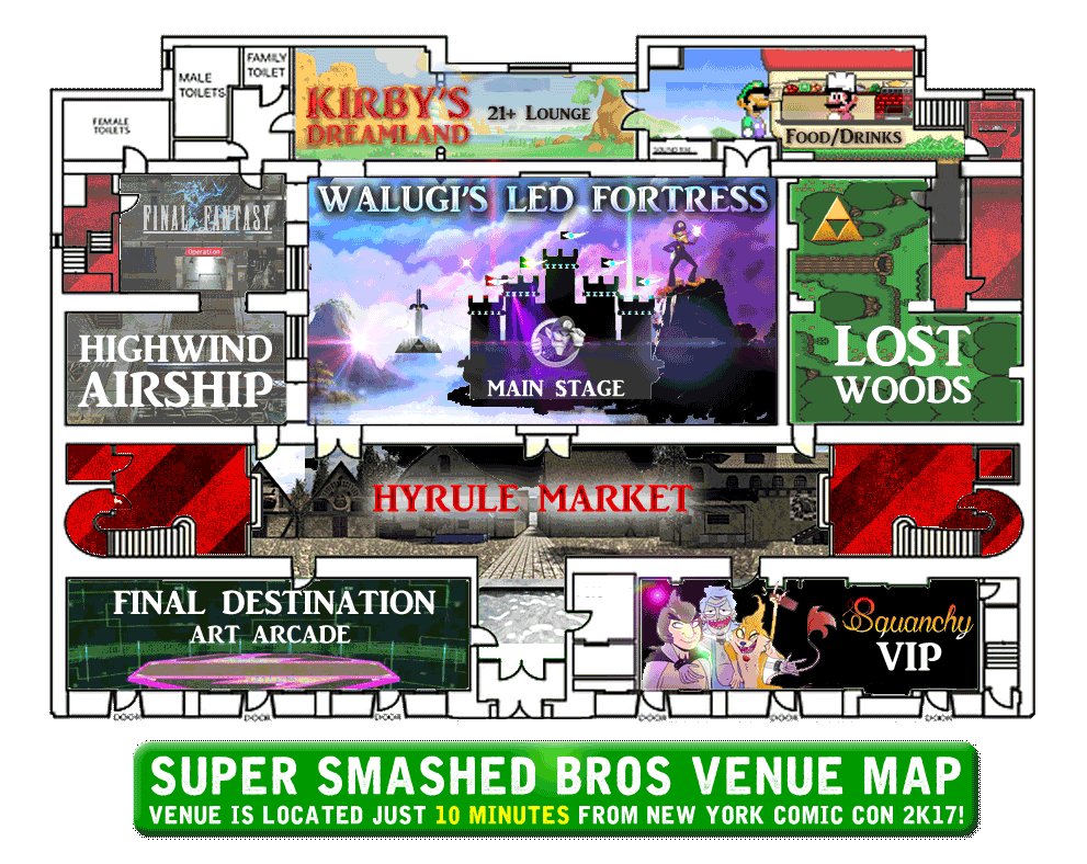 super smashed bros 6 map