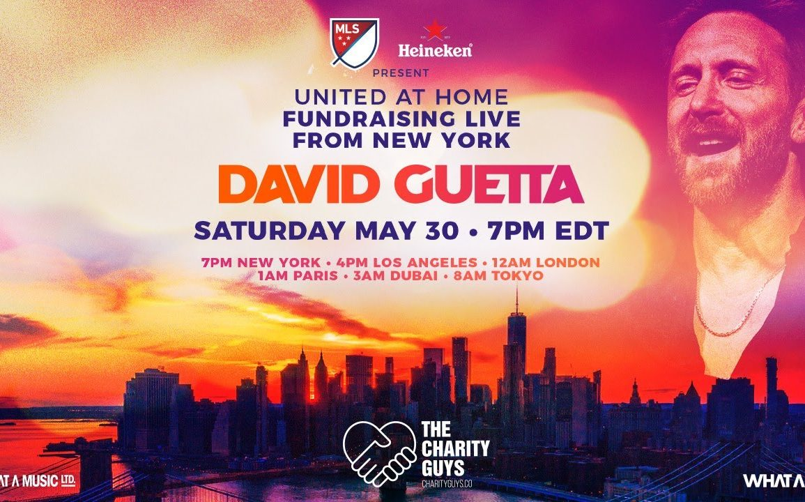 (WATCH) David Guetta / United at Home - Fundraising Live from NYC #UnitedatHome #StayHome #WithMe