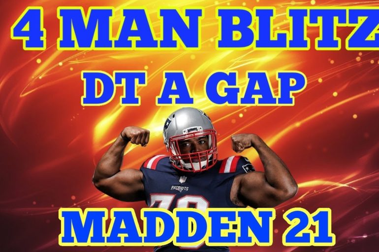 (WATCH) Madden 21 NANO Blitz - New 4 MAN Blitz (DT A GAP!) Against Max Protect?🔥 Good coverage Behind it