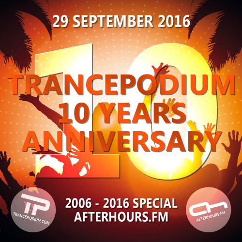 Trance Wednesdays : John 00 Fleming @ TrancePodium 10th Anniversary Celebration on AH.fm (29-09-2016)