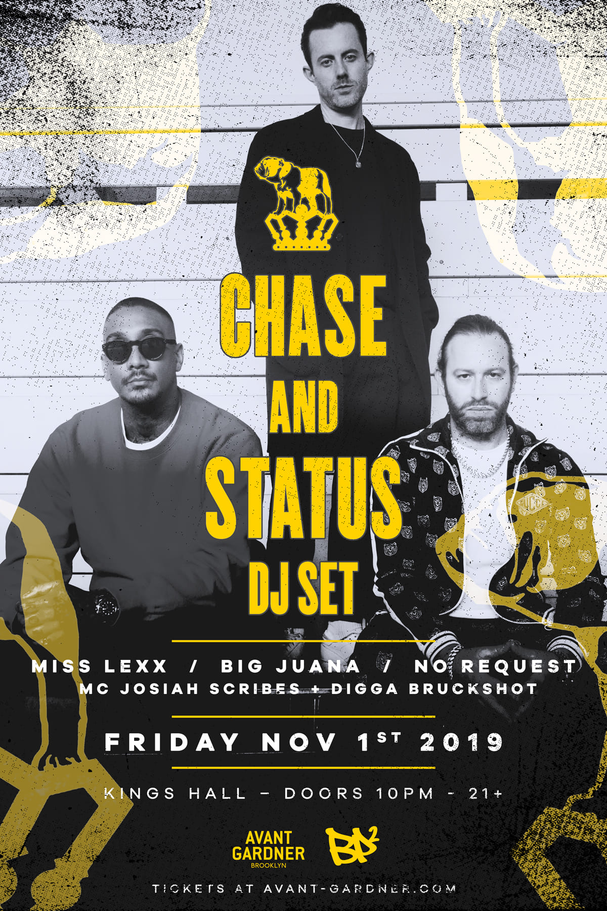 BP² presents Chase and Status at Kings Hall, Brooklyn November 2019.