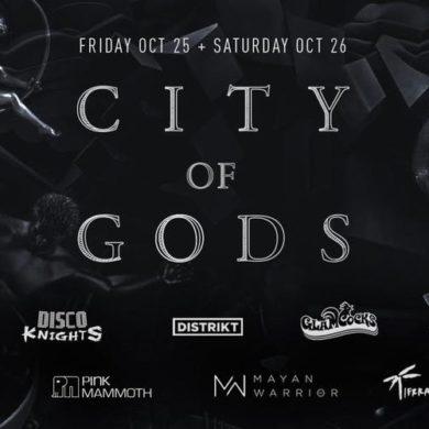 City of Gods Halloween flyer