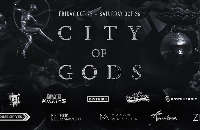 City of Gods Halloween flyer