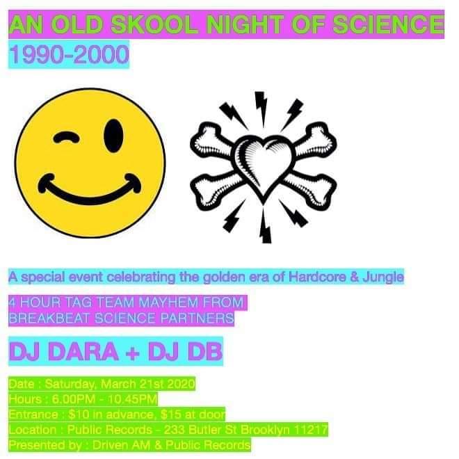Dj Dara + Dj DB - Old Skool Night of Science