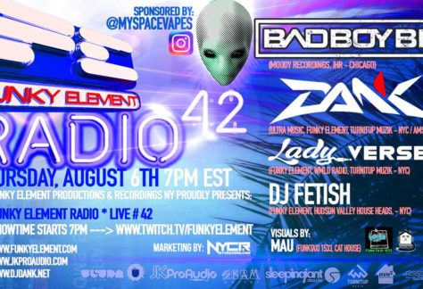Funky Element Radio #42 LIVE w Bad Boy Bill