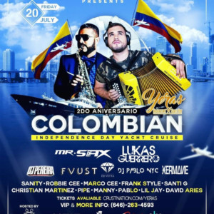 YERAS COLOMBIAN INDEPENDENCE DAY YACHT CRUISE