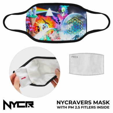 NYC Ravers Face Mask with P2-5 Filters