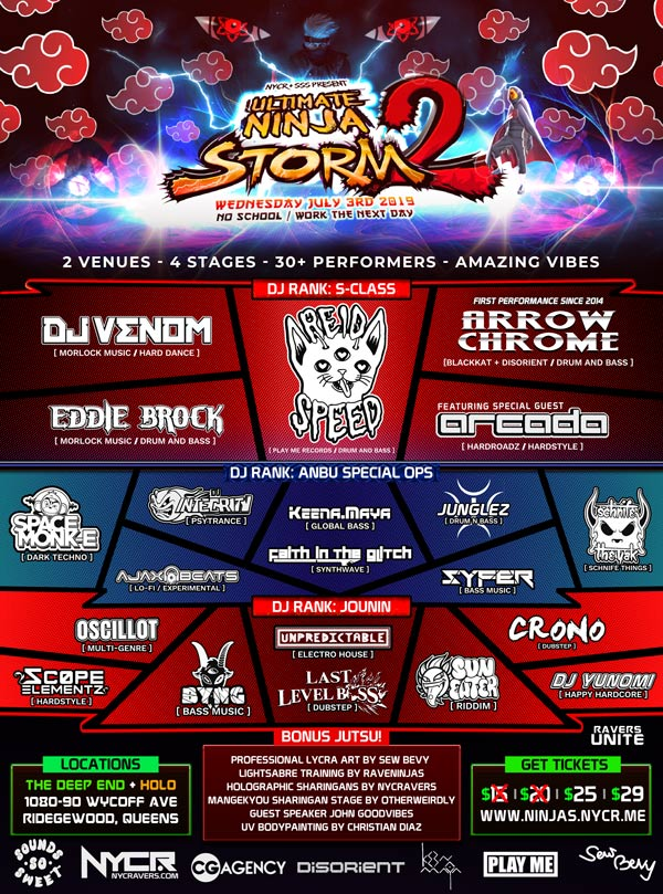 Ultimate Ninja Storm 2 Rave by NYCRavers