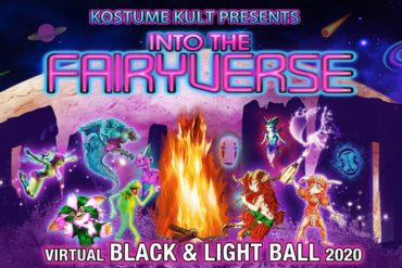 Kostume Kult's Virtual Black & Light Ball 2020