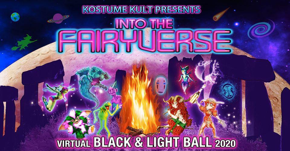 Kostume Kult's Virtual Black & Light Ball 2020